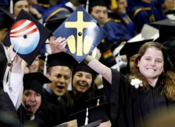 ND grads demonstrate the old-fashioned way