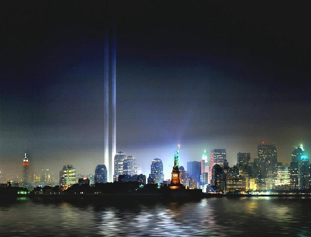 WTC Tribute in Light, 2002