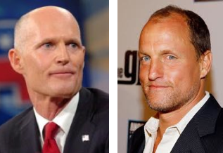 Rick Scott and Woody Harrelson