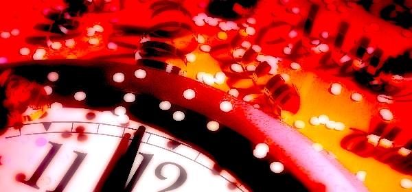 New Year's Eve clock