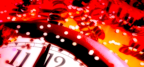 New Year's Eve clock