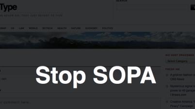 Stop SOPA overlay