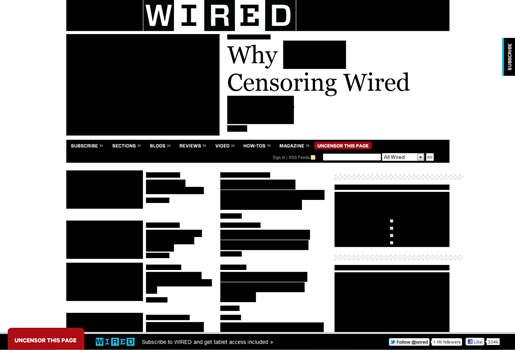 Wired blackout page