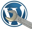 wordpress logo & wrench