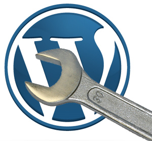 wordpress logo & wrench