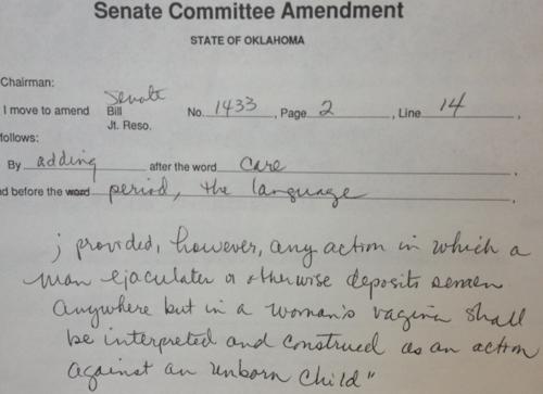 Amendment to Personhood Act