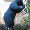 """Denver's big blue bear """"Who's in There"""" by Lawrence Argent"""