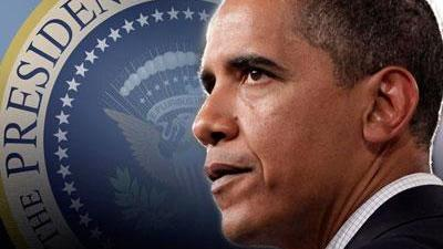 obama with presidential seal