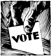 vote woodcut