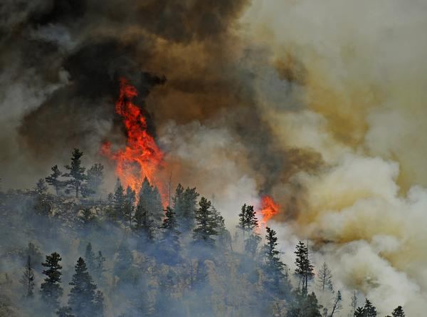 Hewlett Gulch fire. THE DENVER POST | RJ Sangosti