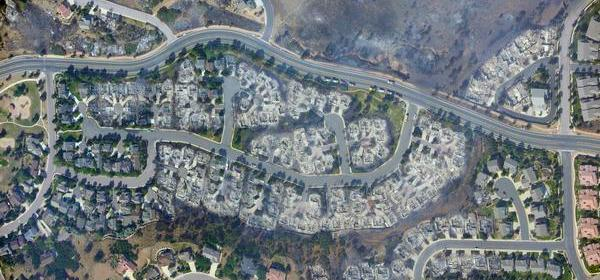 Homes burned by the Waldo Canyon Fire in Colorado Springs