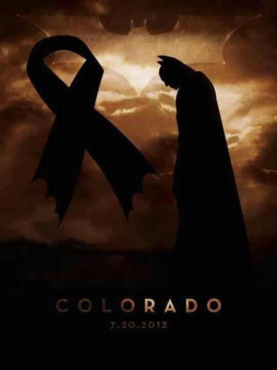 Batman mourns Colorado shooting ~ In Memoriam ~ Jessica N. Ghawi, 24 ~ Veronica Moser-Sullivan, 6 ~ John T. Larimer, 27 ~ Alexander J. Boik, 18  ~ Jesse E. Childress, 29 ~  Jonathan T. Blunk, 26  ~ Rebecca Ann Wingo, 32  ~ Alex M. Sullivan, 27  ~ Gordon W. Cowden, 51  ~ Micayla C. Medek, 23  ~ Alexander C. Teves, 24  ~ Matthew R. McQuinn, 27 ~