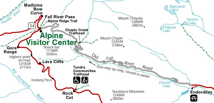 Old Fall River Road and Alpine Visitor Center, Rocky Mountain National Park