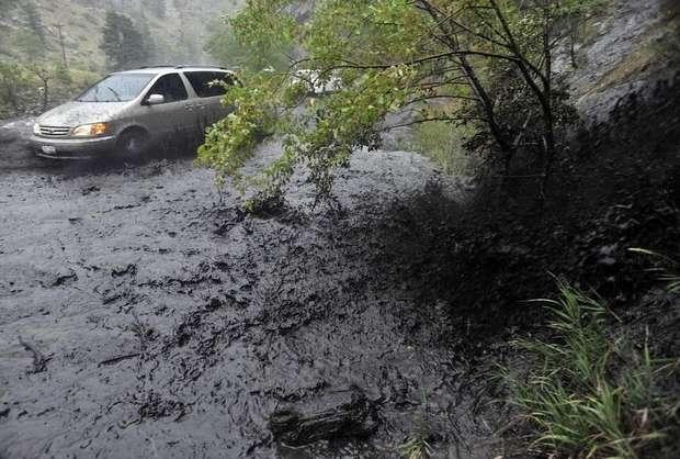 Road flooding near Poudre Park