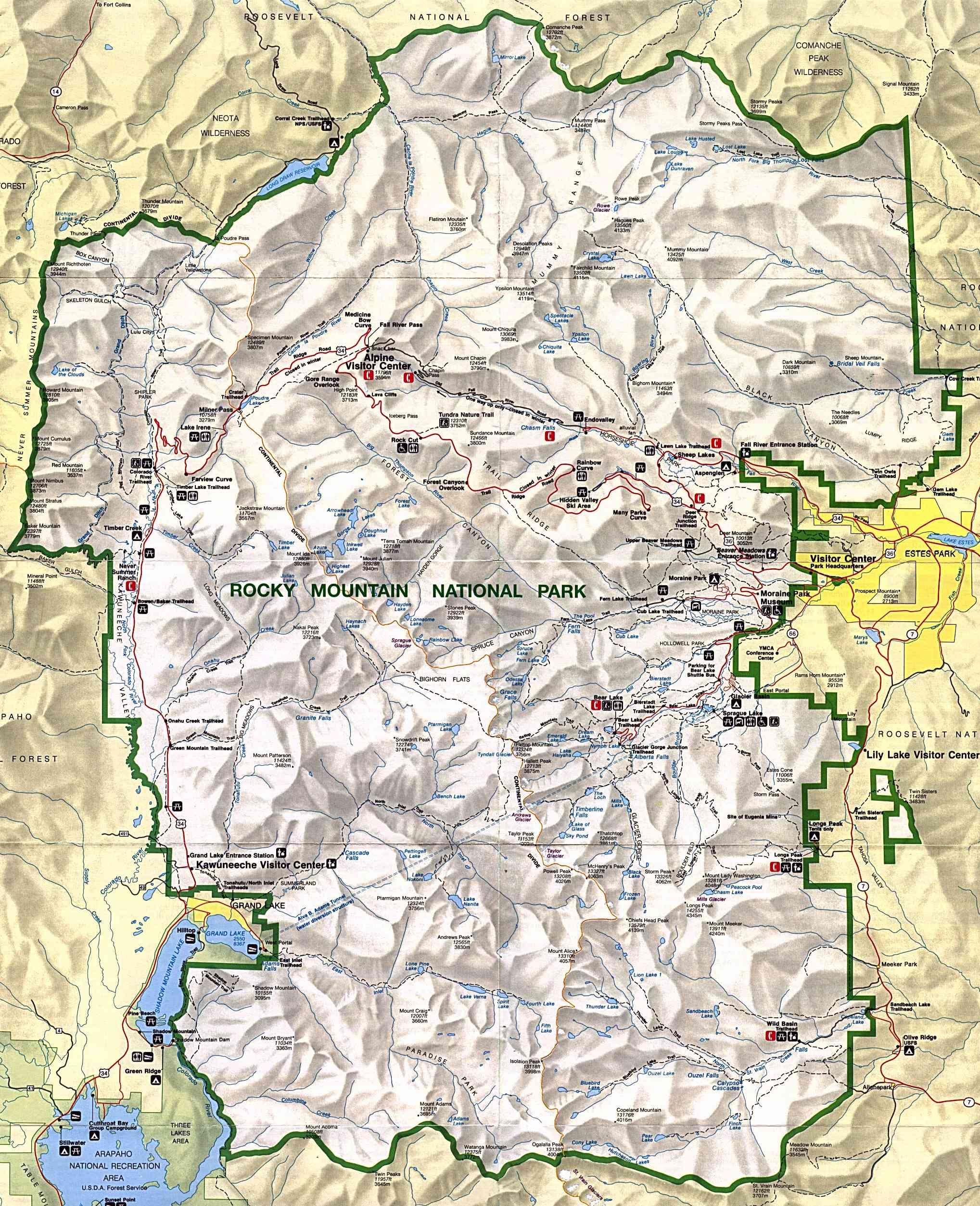 rmnp trail map - Spielbank.us
