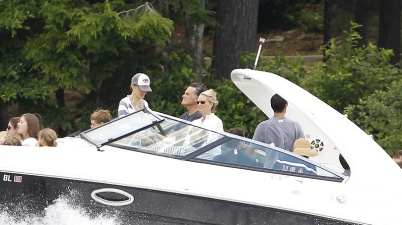 Romney on his boat