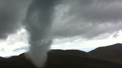 Mount Evans tornado. Photo submitted by Josh Deere.