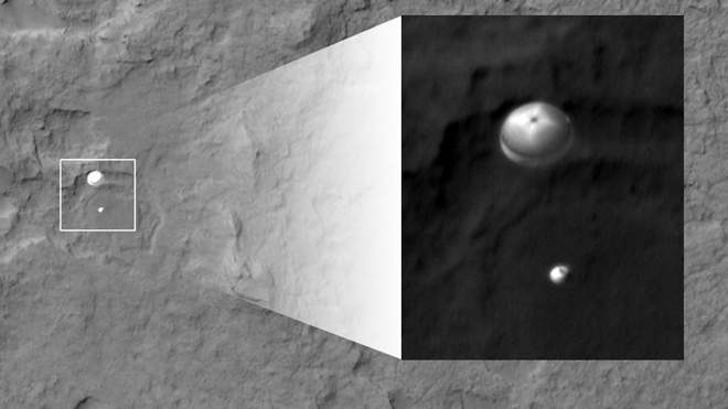 Curiosity parachute