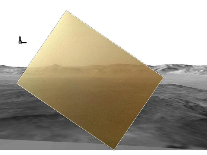 Curiosity's first color photo