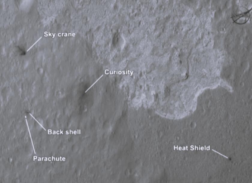 Curiosity landing zone