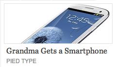 Grandma gets smartphone