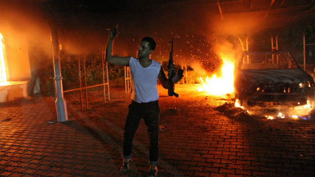 Muslim protest in Benghazi, Libya