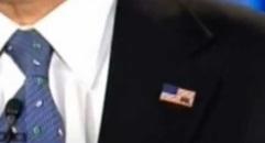 Romney lapel pin