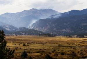 Smoke as seen from Moraine Park campground. (Photo: Courtesy Ann Schonlau/NPS)