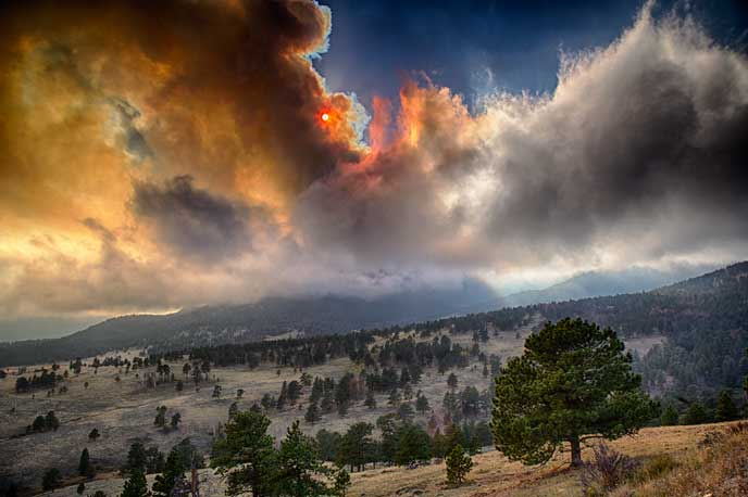Fern Lake Fire, Rocky Mountain National Park