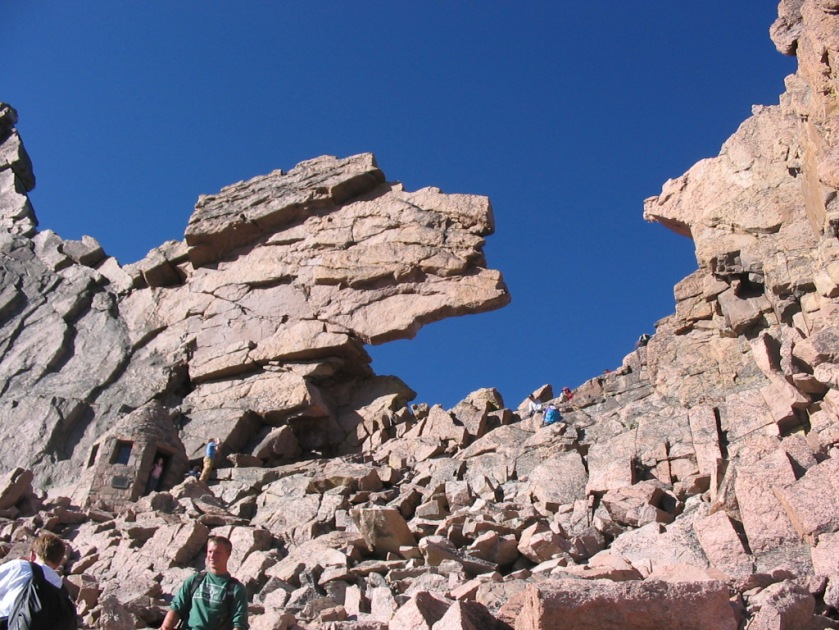 The Keyhole, with Agnes Vail shelter on the left