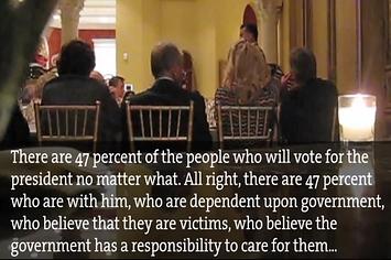 """Romney's """"47%"""" comment"""