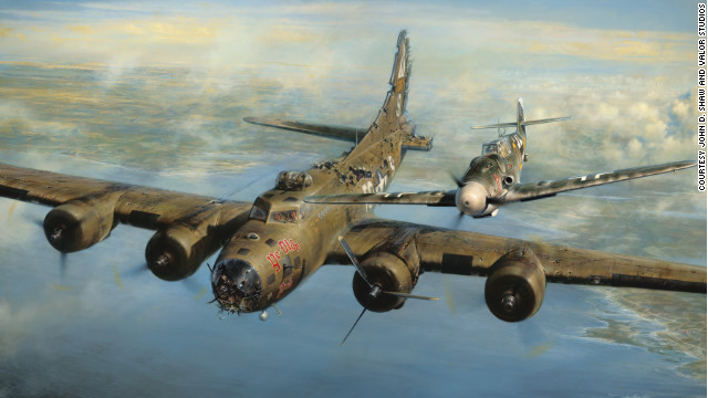 B-17 and fighter