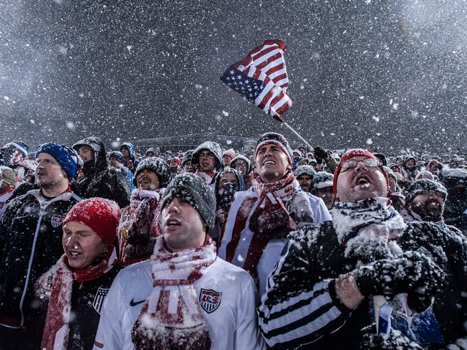 Tough conditions for soccer fans