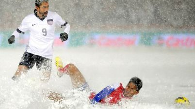 US Men's National Soccer Term plays Costa Rica in Denver