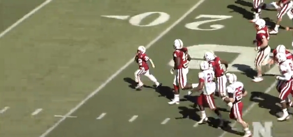 7-yr-old cancer patient scores Husker TD