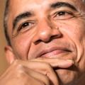 President Obama enjoys himself at the 2013 White House Correspondents Dinner. (Photo: Brendan Smialowski/AFP/Getty Images)