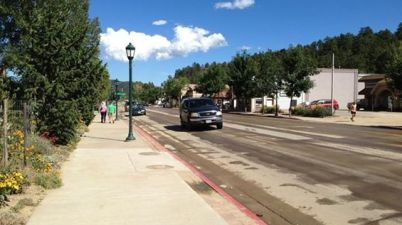 Elkhorn Avenue in downtown Estes Park is dry and open for business. (Photo: VisitEstesPark)