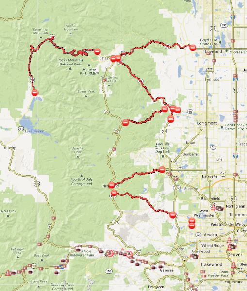 Colorado Road Closures And Access To Estes Park