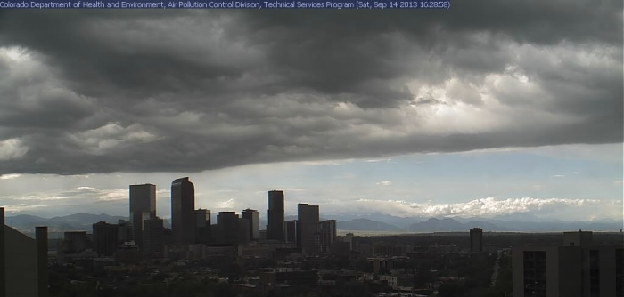 Yet another rain storm looms above Denver on Friday, Sept. 13