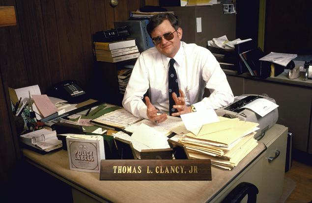 Tom Clancy in his insurance office in 1985. This is how I remember him. (Image: Diana Walker)