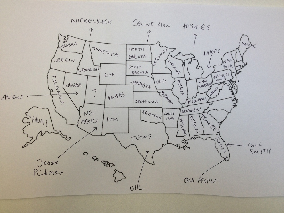 Brits try to label states on US map Pied Type