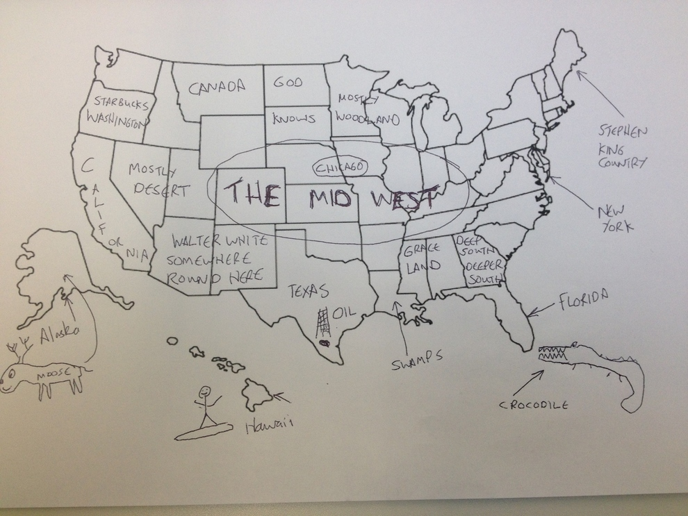 Brits try to label states on US map – Pied Type