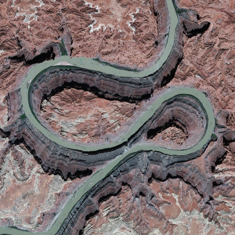 Utah, USA, April 22, 2013 – Colorado River *positioned to give an interesting optical illusion.