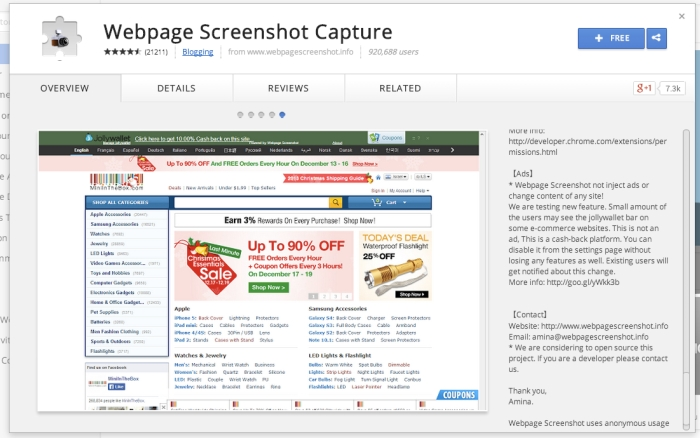 ChromeStoreWebpage