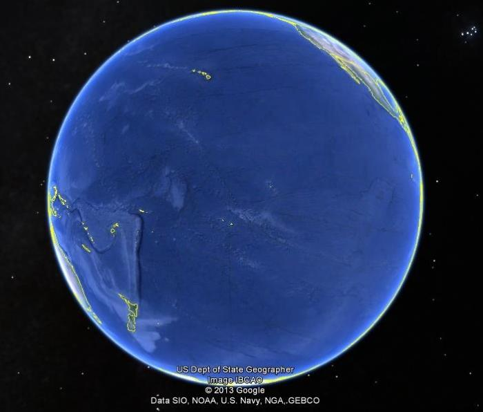Maps-ever wondered how big the pacific ocean is