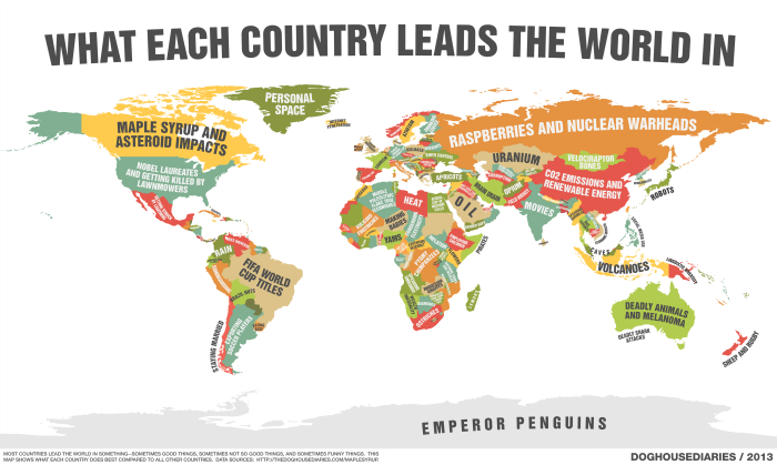 Maps-what each country leads the world in