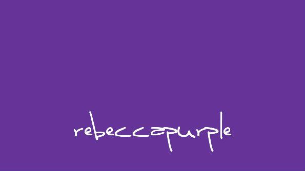 rebeccapurple, #663399, named in memory of Rebecca Meyer