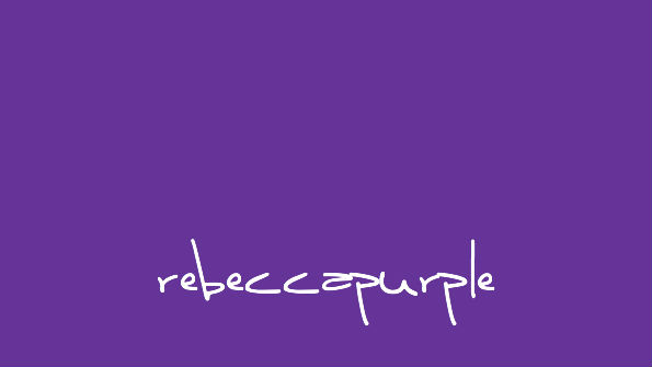 rebeccapurple, #663399, named in memory of Rebecca Meyer