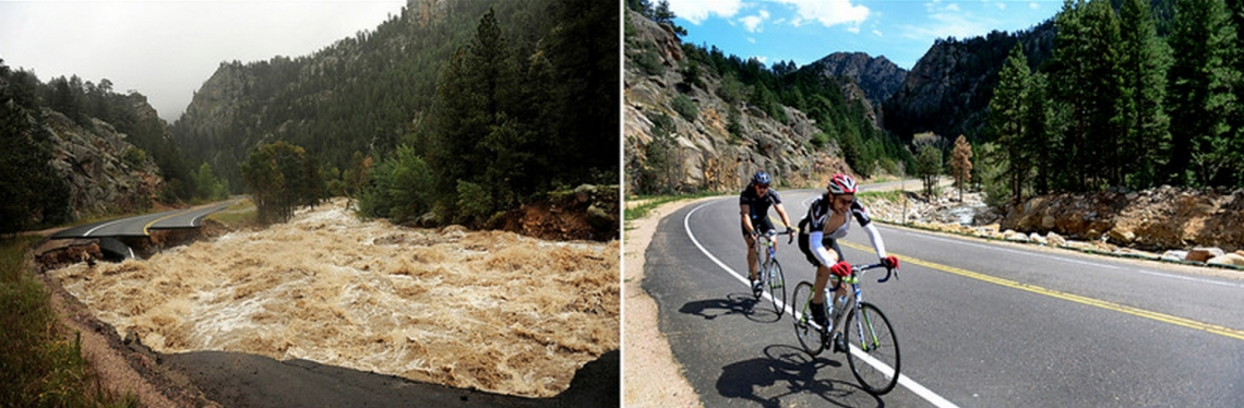 Then and now. See more then and now photos at the Denver Post. (Photo: Helen H. Richardson, Denver Post)