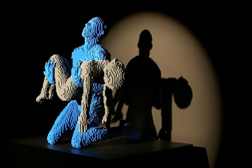 """My Boy"" (22,590 bricks) is Sawaya's reaction to the story of a parent who had lost a child."